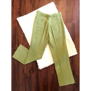 Vintage Avocado Green Wool Blend Slacks